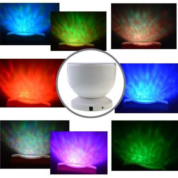 Bild von LED Wellenprojektor mit intigriertem Lautsprecher -Beruhigendes Licht