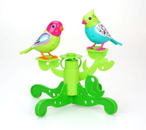 Bild von Digi Birds der 3. Generation -  2 Stück mit Baum