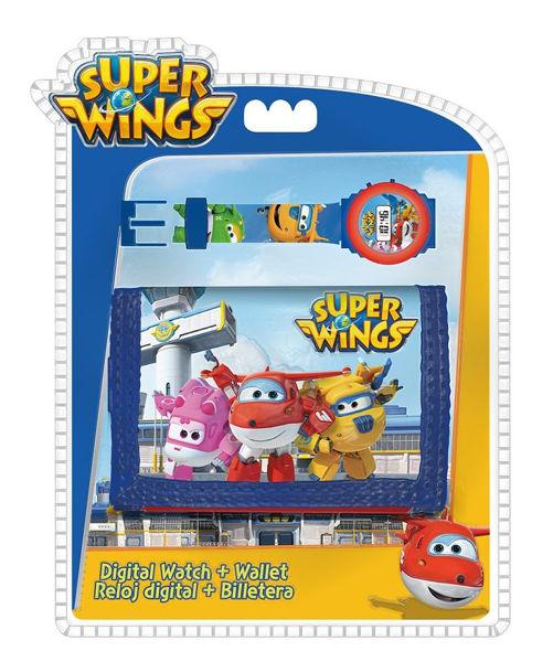 Bild von SUPER WINGS Set ( Digital Armbanduhr + Geldbeutel )