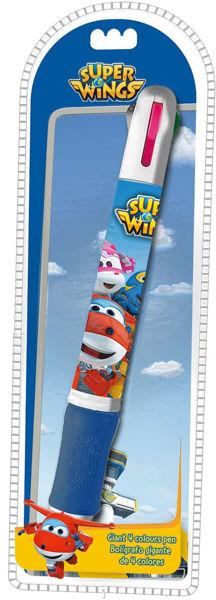 Bild von SUPER WINGS Jumbo Stift ( 4 Farben )