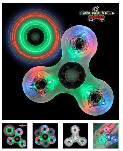 Bild von Fidget Spinner LED transparent