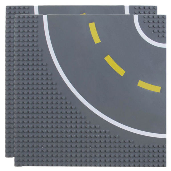 Bild von 2er Set Basis Platten 32x32 Straße mit Kurve