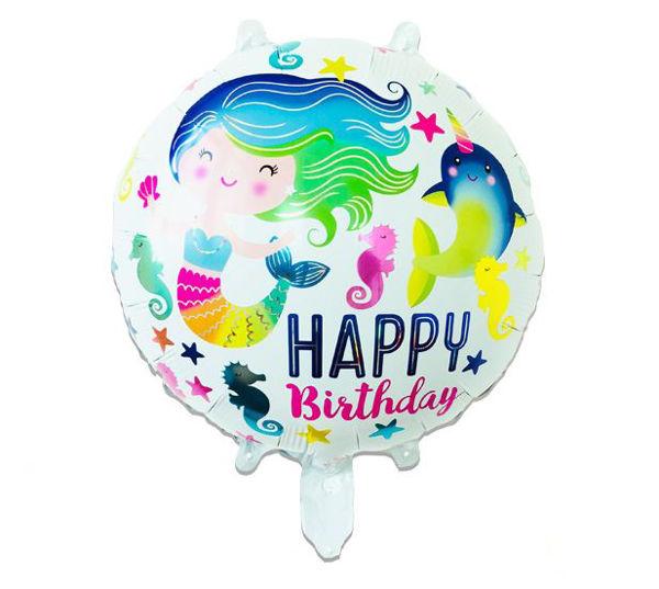 Bild von Folienballon Happy Birthday Meerjungfrau