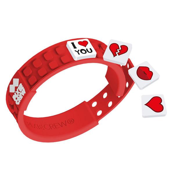 Bild von Pixie Crew - Armband, rot, Love