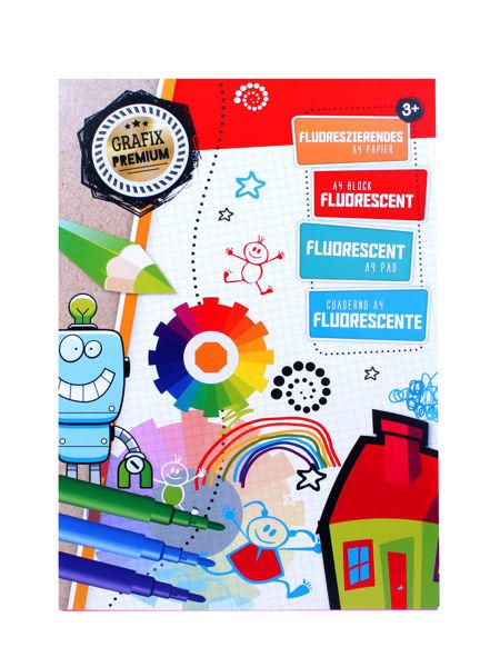 Bild von Fluoreszierendes A4 Bastelpapier, 40 Blätter