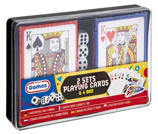 Bild von Spielkartenset mit Würfel